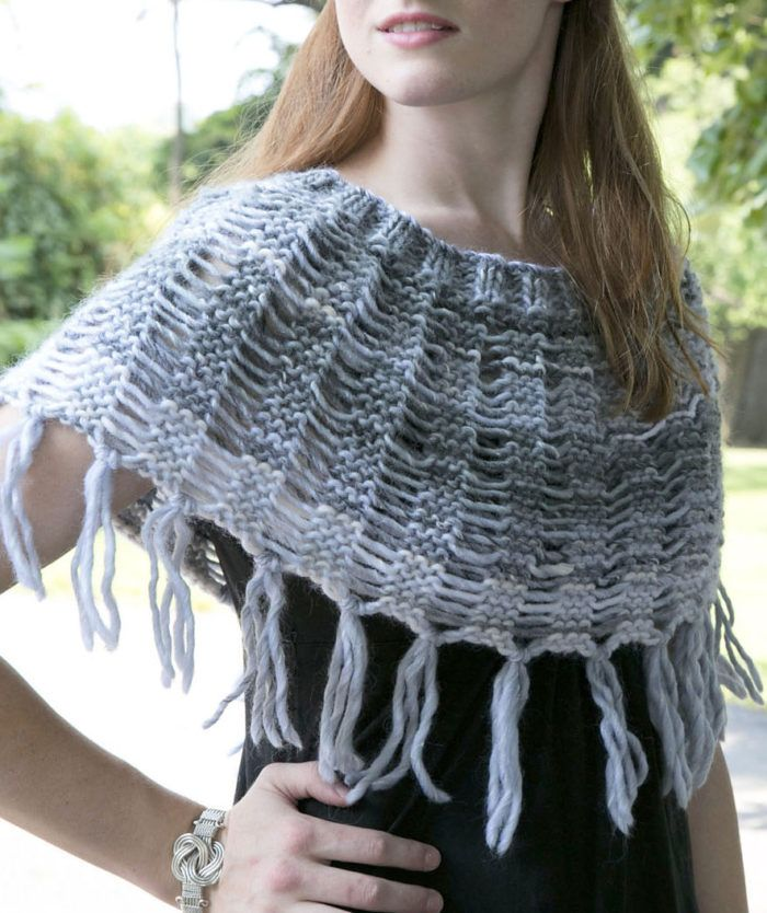 Free Knitting Pattern for Drop Stitch Cowl - Shoulder cozy knit in ...