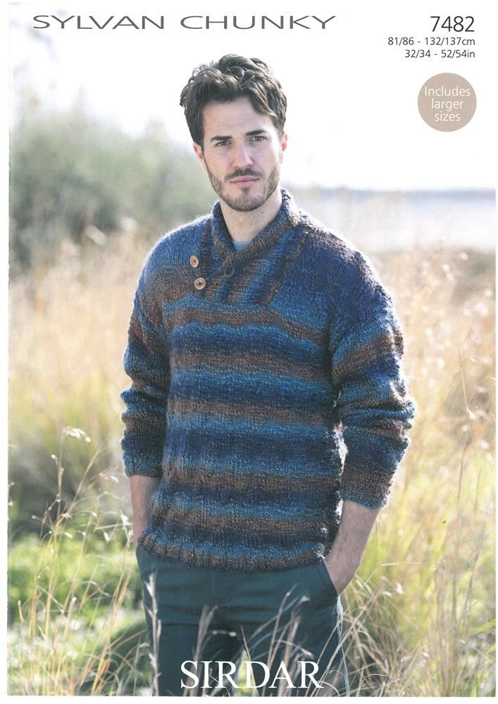 Men\'s Sweater in Sirdar Sylvan Chunky | Men\'s Knits | Pinterest