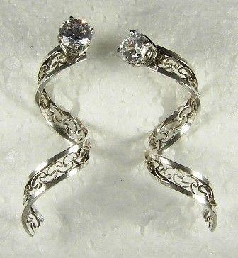 Earring Jackets Diamond Jacket Stud Gemstone For Earrings