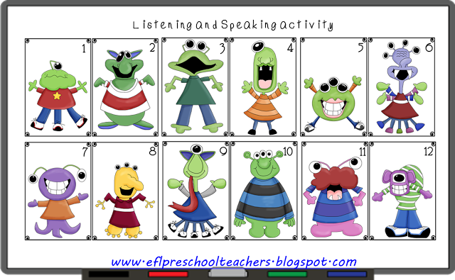 ESL/EFL Preschool Teachers: Adjectives for Preschool ELL