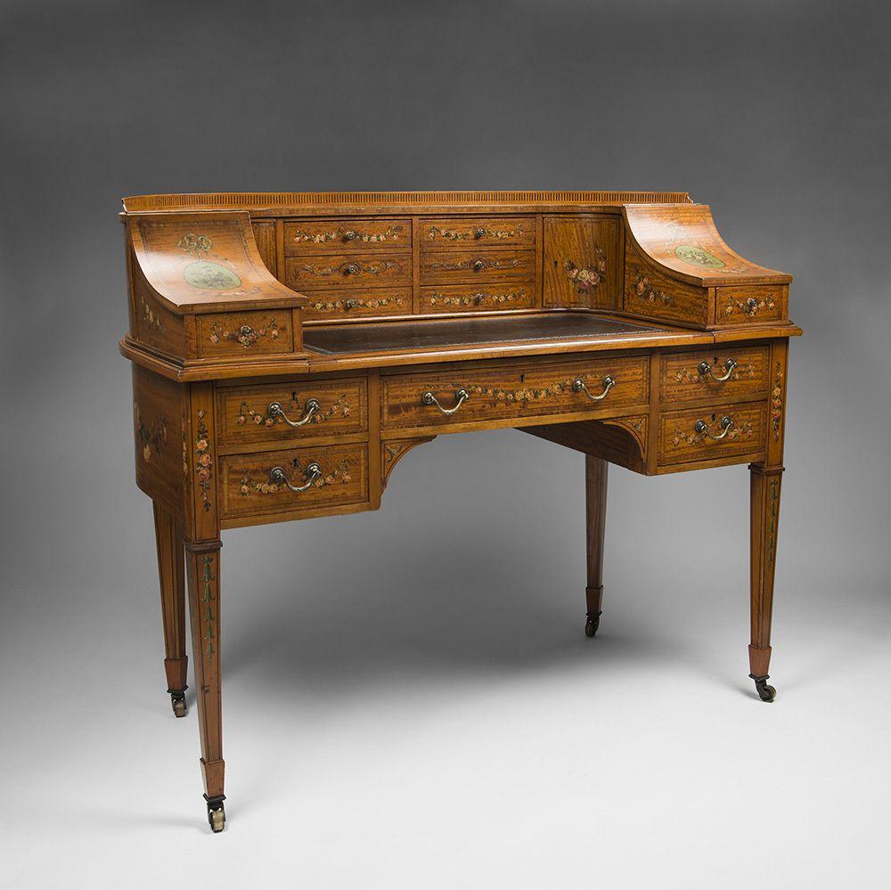 maple co edwardian painted satinwood carlton house desk les mignons secr taire et mignon. Black Bedroom Furniture Sets. Home Design Ideas