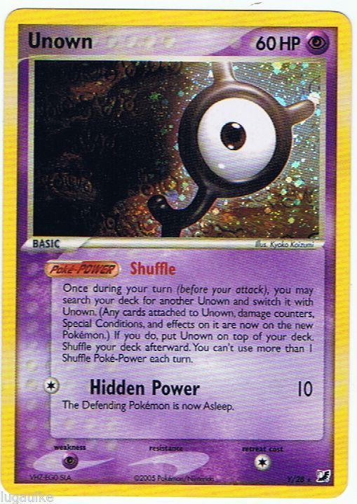 Pokemon Card Ex Unseen Forces Holo Rare Unown Y 28 Free Combined Shipping Unseenforces Pokemoncards Pokemon Tcg Cards Pokemon Cards Pokemon