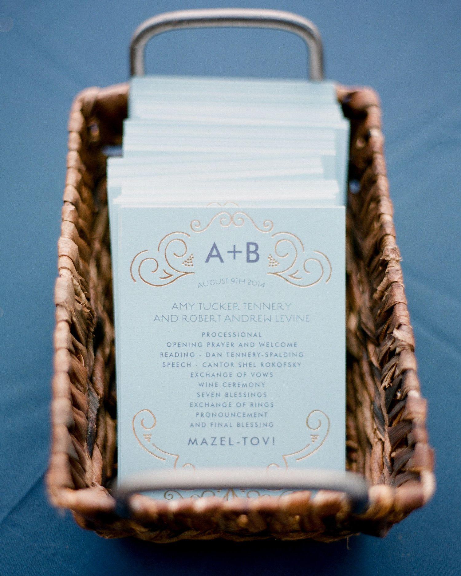 44 Perfect Wedding Ceremony Programs | Wedding programs, Wedding ...