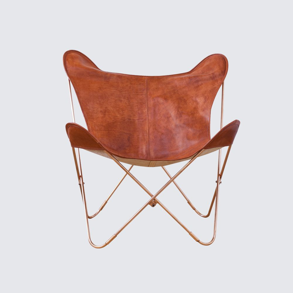 Butterfly chair covers leather - Palermo Copper Series Leather The Citizenry Butterfly Chairhome