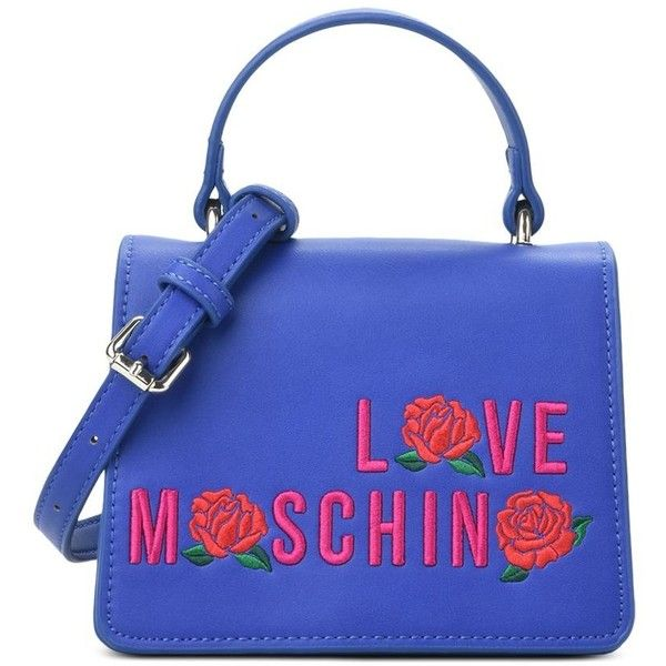 Love Moschino Handbag ($205) ❤ liked on Polyvore featuring bags, handbags, shoulder bags, blue, man bag, love moschino shoulder bag, handbag purse, shoulder handbags and love moschino handbags