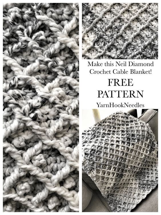The Neil Diamond Crochet Cable Blanket with FREE Pattern ...