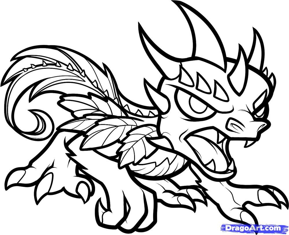 How To Draw Camo Skylanders By Dawn Dragon Coloring Page