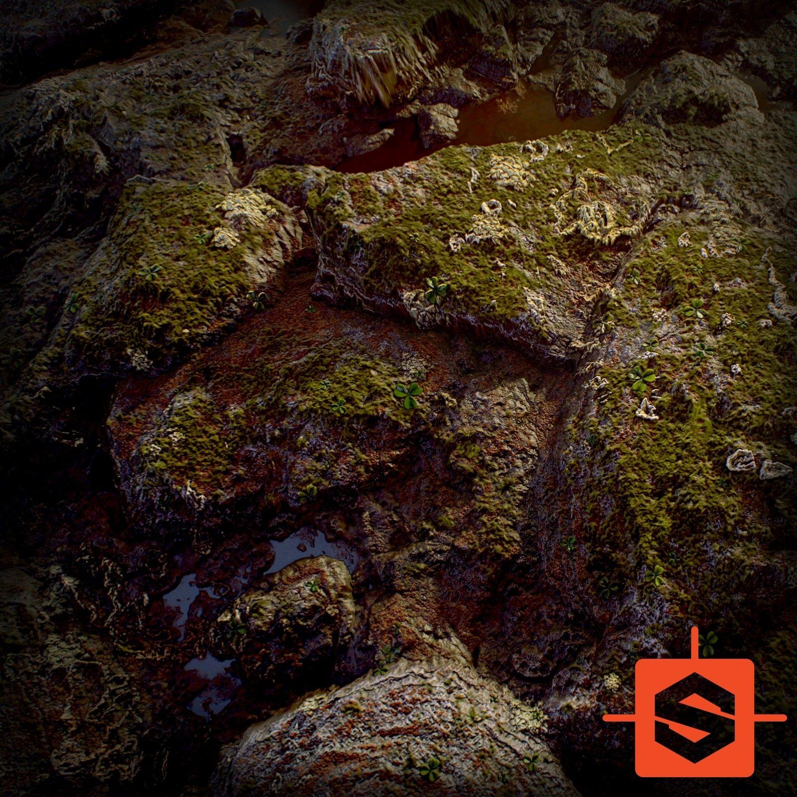 Mossy Forest Rock Substance Designer, David Garrett on