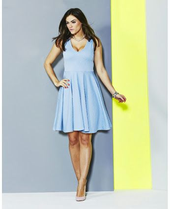 398355b4cfc Plus Size Light Blue Jacquard Skater Dress From Simply Be - PLUS Model Mag.  Available in sizes Color  Light Blue.