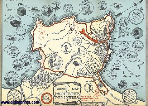 awesome Map of Monterey Tourist Travelquaz Pinterest Pacific