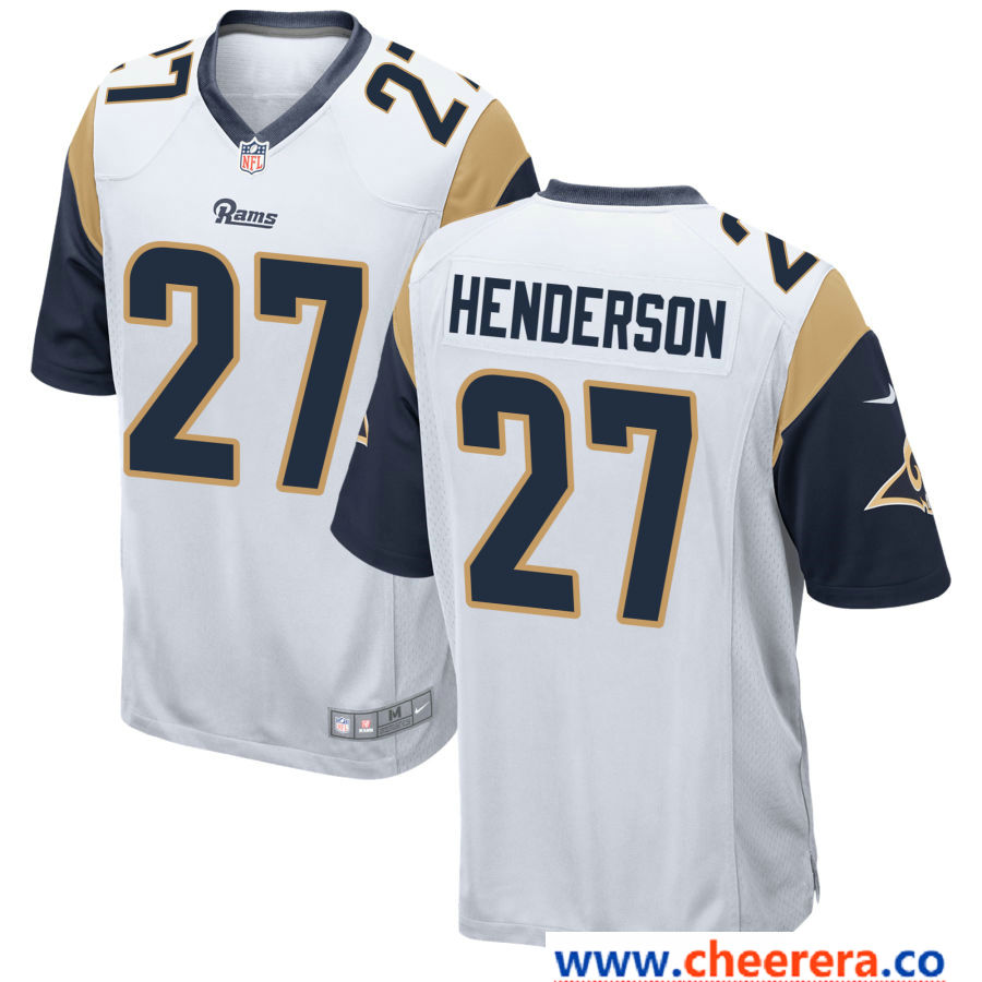 pretty nice ff94f e0a84 Men's Los Angeles Rams #27 Darrell Henderson White Road ...