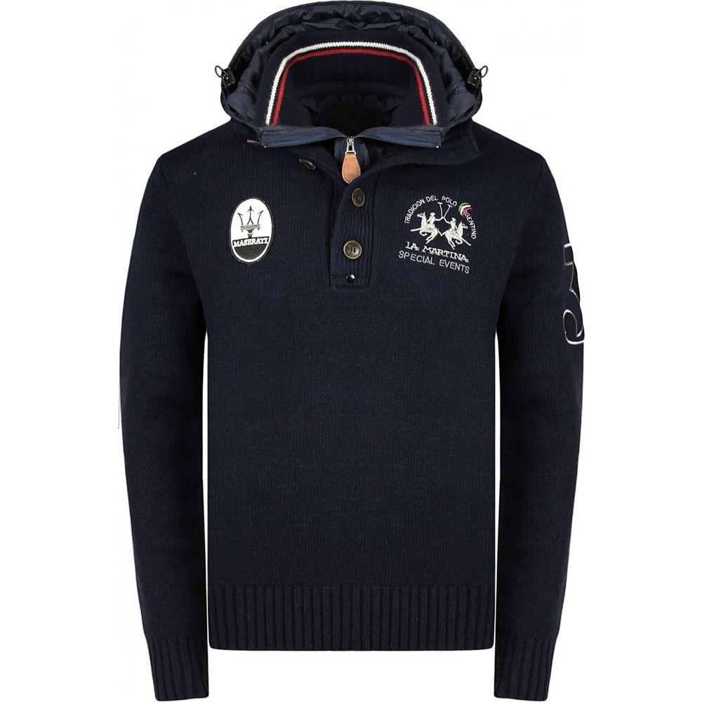 015018df1 La Martina Men s Maserati Detachable Hood Jumper