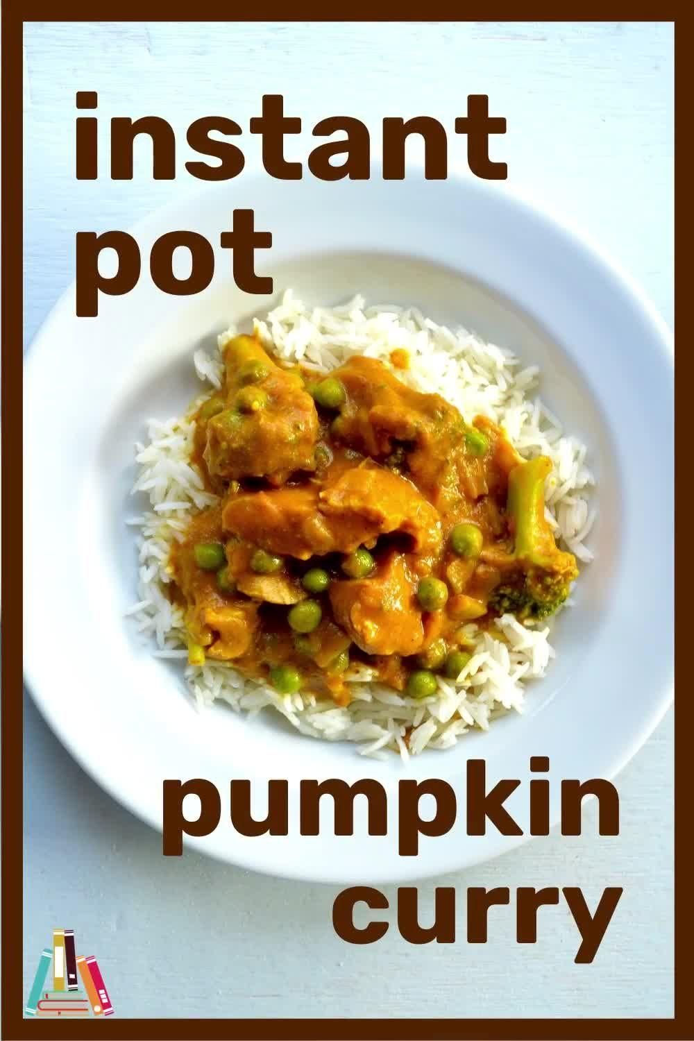 Instant Pot Pumpkin Curry with Chicken