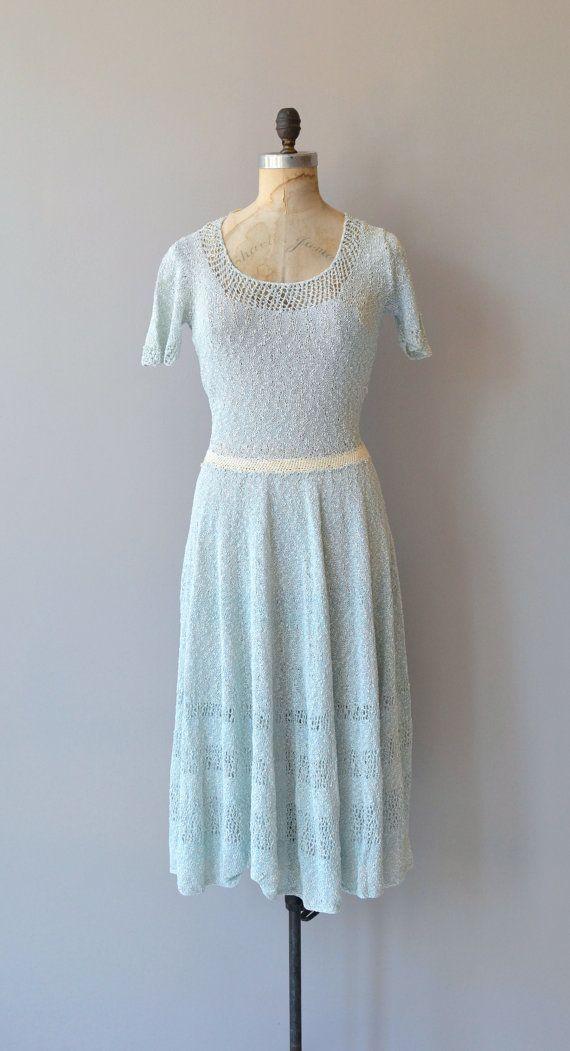 Bayern knit dress | vintage 1940s dress | 40s knit dress | 1940s ...