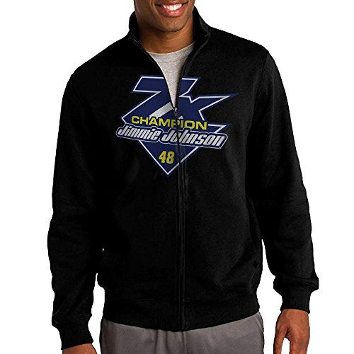 Mens Jimmie Johnson Fanatics Branded Black 2016 Sprint Cup Champion 7Time Champion Zipper Jacket Hoodie Sweatshirt -- Learn more by visiting the image link.(This is an Amazon affiliate link and I receive a commission for the sales)