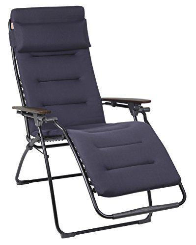 Lafuma gepolsterter Relax Liegestuhl, klappbar und verstellbar, Futura Air Comfort, Acier  ~ 18031819_Liegestuhl Mehrfach Verstellbar