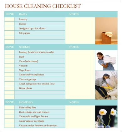 Awesome Business Check Template Word Sample House Cleaning Checklist   Documents In  Word, PDF