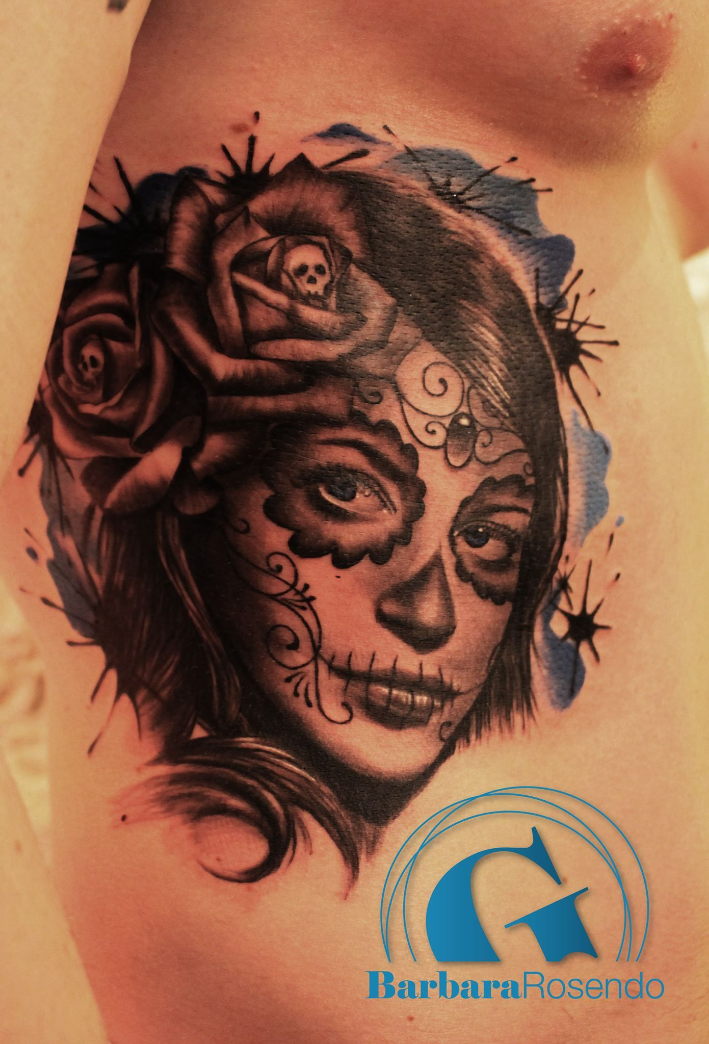 une catrina de barbara rosendo tatouage tattoo catrina. Black Bedroom Furniture Sets. Home Design Ideas