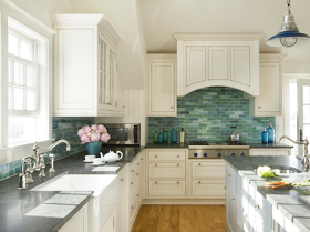 Sea Glass Inspired Backsplash And Love The Gray Counters