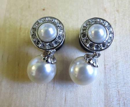 gauged wedding earrings - Google Search