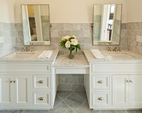 Pin By Adrianna Arcuri Richter On Bath Bathroom Vanity Designs White Vanity Bathroom Traditional Bathroom