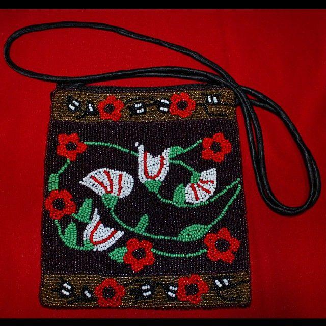A must have beautiful beaded purse! Link in bio! #ooak #handmade #essentials #native #purse #clutch #beadwork #ootd #creativenative #regalia #powwow #floral
