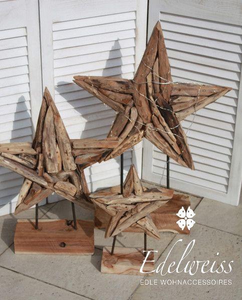 holzsterne teakholzsterne set gro xxl mit sockel von edelweiss deko auf. Black Bedroom Furniture Sets. Home Design Ideas