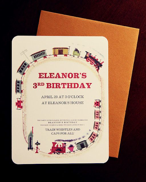 Train Party Invitations (Free Printable)   #train#party#invitation#free#printable#birthday#timbuctoo#vintage