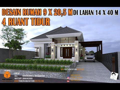 Desain Rumah Minimalis Ukuran 7x12 Meter  desain rumah 9x20 5 m 4 ruang tidur kondisi lahan lebih