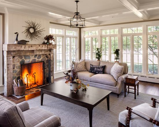 sunroom with fireplace photos | Sunrooms With Fireplaces And Couches:  Perfect Sunroom With Fireplace .