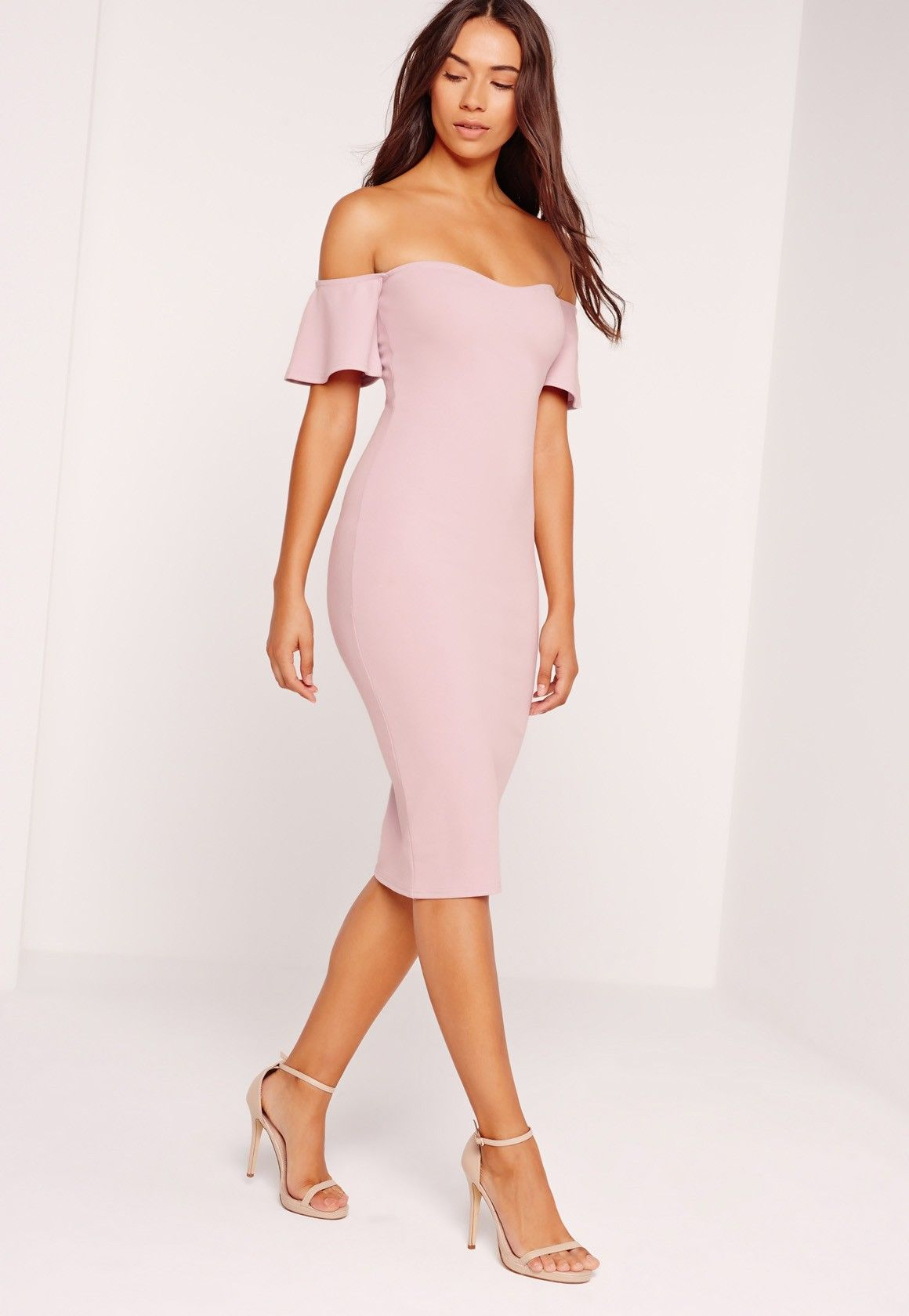32b926fed2 Bardot dresses are what every Missguided girls wardrobe is craving this  season! In a dreamy mauve shade