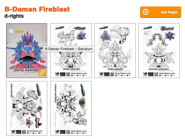 B Daman Fireblast Augmented Reality Coloring Pages Quivervision
