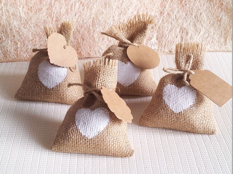 Cheap Bag F Buy Quality Bags With Directly From China Suppliers New Year Wedding Candy DIY Kraft Tag Burlap Pouch Sack Rustic
