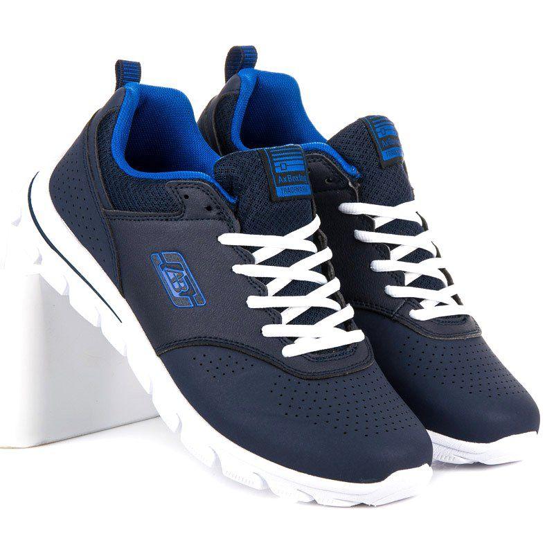 Sportowe Meskie Axboxing Niebieskie Meskie Buty Do Biegania Ax Boxing Sketchers Sneakers Shoes Sneakers