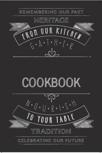 recipe book cover template