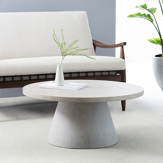 Pedestal Outdoor Coffee Table In 2020 Outdoor Coffee Tables