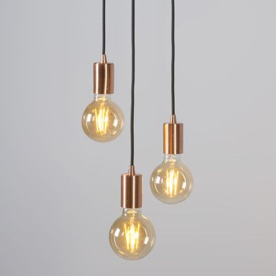 Art Deco Pendant Lamp Copper Facil 3 Hanglamp Koperen Lampen Verlichting