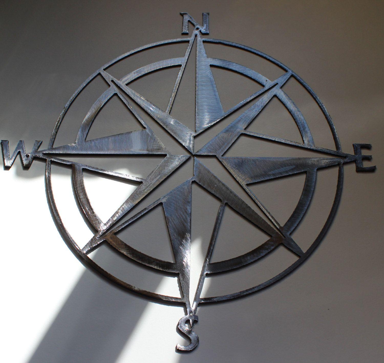 Nautical+Compass+Rose+Wall+Art+Metal+Decor+by+HEAVENSGATEMETALWORK
