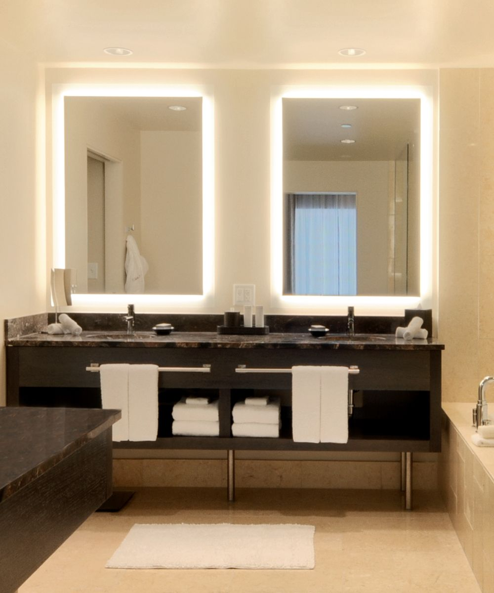 Explore Vanity Bathroom Master And More Silhouette Rectangular Lighted Mirror