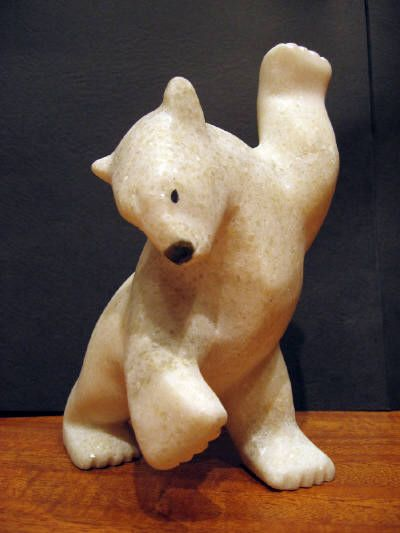 Dancing bear sculpture-8049
