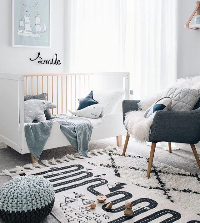 Navy And Blue Scandi Nursery Baby Nursery Inspiration Baby Boy Room Nursery Nursery Room Boy