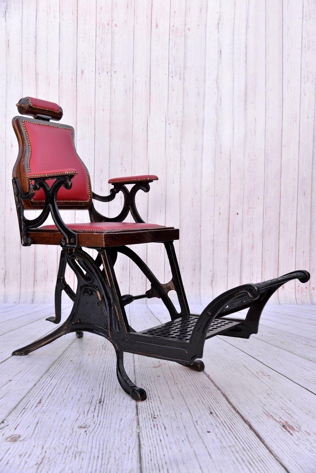antique restored barber chair fantastic ebay vintage barber rh pinterest co uk Antique Dental Chair Antique Barber Chairs Wanted
