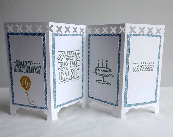 Birthday card panel card with four panels birthday by MaudieMaudie
