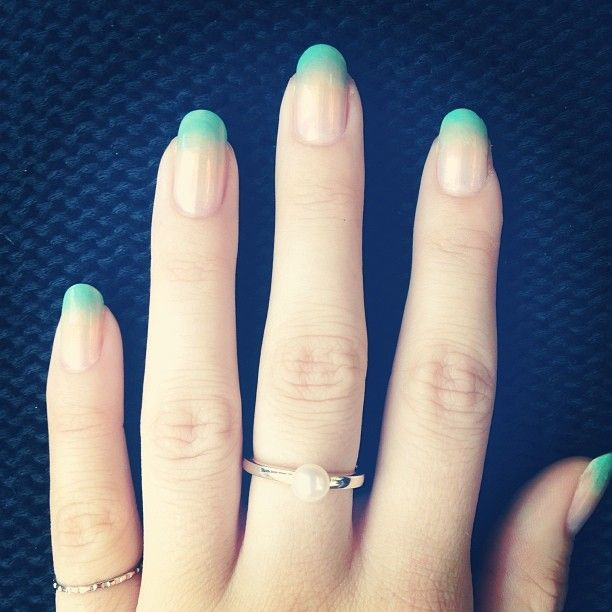 Turquoise Ombre Nails For More Information On Nail Art From Jb Email Us At