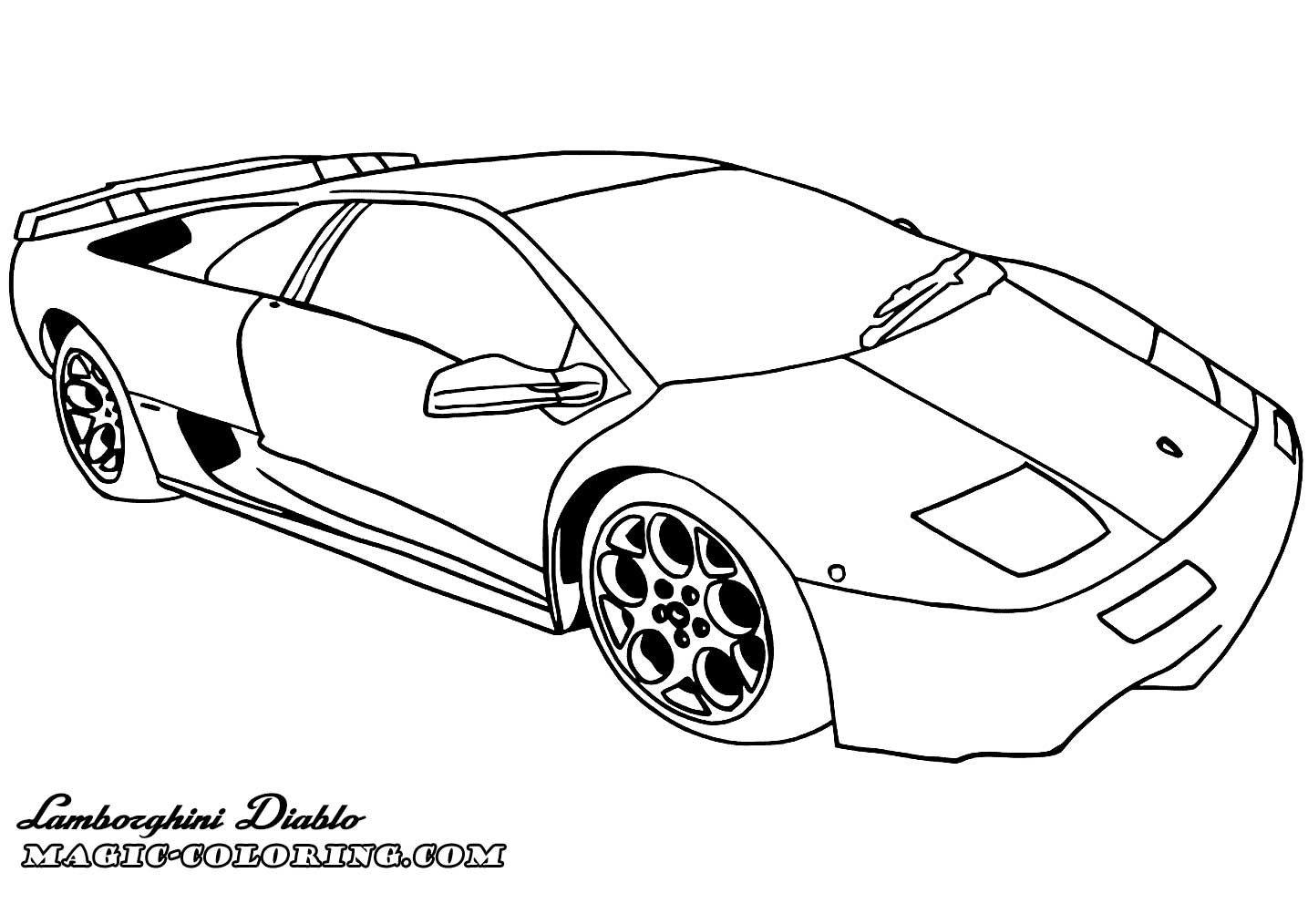 Lamborghini Diablo Coloring Page Cars Coloring Pages Lamborghini Coloring Pages