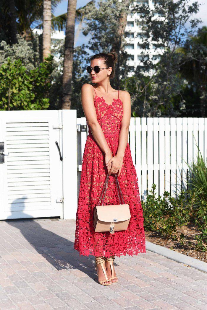 More on www.fashiioncarpet.com  Azaelea Lace Dress by Self-Portrait, Trouble Bag by Marc Jacobs, Sandals by Zara   #fashiioncarpet #ninaschwichtenberg