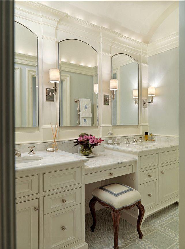 Robern Bathroom Sconces bathroom design ideas. classic marble bathroom. the counters in