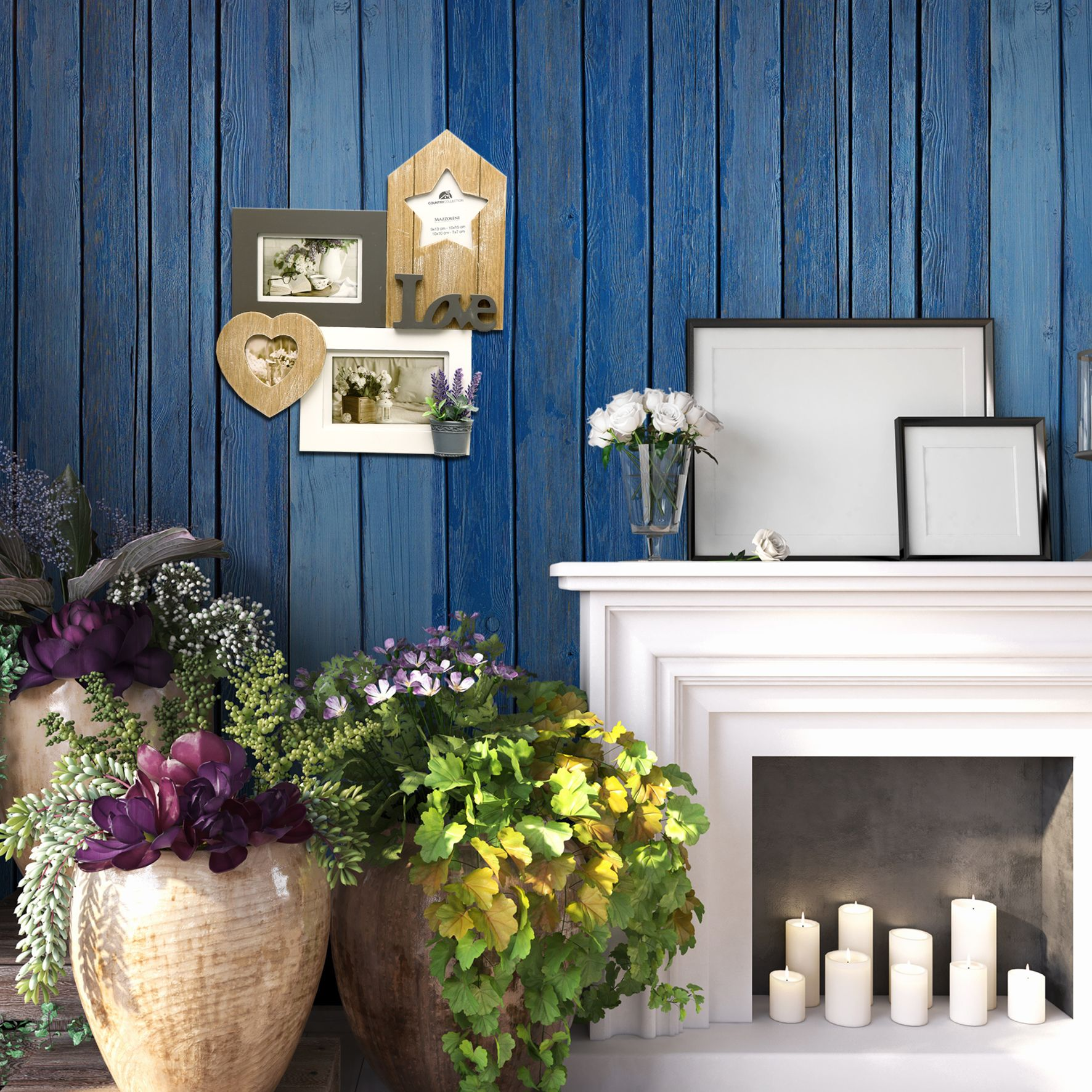 Pittura Shabby Leroy Merlin cornice multifoto love home shabby bianco 4 foto | shabby