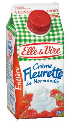 La Creme Fleurette Entiere Ideale Pour Realiser La Creme Chantilly