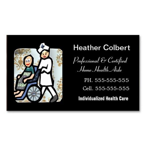 Caregiver Cute Professional Business Card Caregiver, Business - medical business card templates